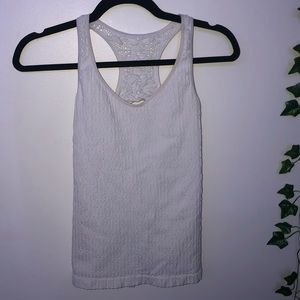 Free People Open Back White Tank Top M/L